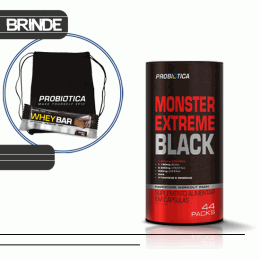 Monster Extreme Black (44 Packs) + Sacola TNT + Whey Bar Low Carb (40g)