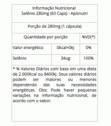 Selênio 280 mg (60 Caps)
